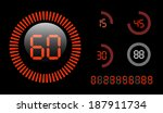 vector digital countdown timer... | Shutterstock .eps vector #187911734
