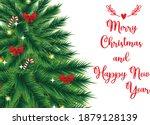 merry christmas poster greeting ... | Shutterstock .eps vector #1879128139