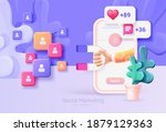 digital social marketing.... | Shutterstock .eps vector #1879129363