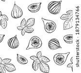 fig illustration. seamless... | Shutterstock .eps vector #1879134766