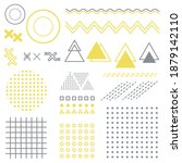 separate geometric elements of... | Shutterstock .eps vector #1879142110