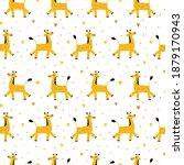 vector pattern of funny cartoon ... | Shutterstock .eps vector #1879170943