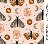 seamless pattern with celestial ...   Shutterstock .eps vector #1879178983