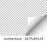 paper with a curled edge.... | Shutterstock .eps vector #1879184143