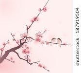 Oriental Style Painting  Cherr...