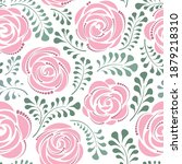 floral seamless pattern with... | Shutterstock .eps vector #1879218310