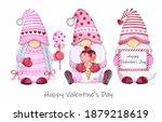 cute valentine gnomes set....   Shutterstock . vector #1879218619