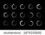white loading icons on black... | Shutterstock .eps vector #1879235830