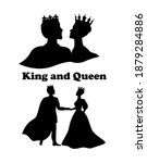 silhouettes of figures of king... | Shutterstock .eps vector #1879284886