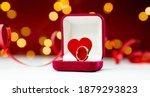 Gold Ring  Wedding Ring In Red...