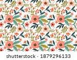 flowers design on white color... | Shutterstock .eps vector #1879296133