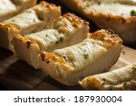 toasted cheese and garlic bread ... | Shutterstock . vector #187930004