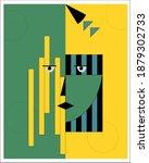abstract woman portrait in...   Shutterstock .eps vector #1879302733
