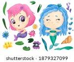 Mermaid Watercolor...