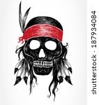 native american indian chief... | Shutterstock .eps vector #187934084