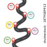infographic with road highway...   Shutterstock .eps vector #1879389913