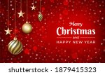 merry christmas with red color... | Shutterstock . vector #1879415323