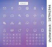 line icon set   Shutterstock .eps vector #187941944