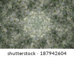 green and white mosaic... | Shutterstock . vector #187942604