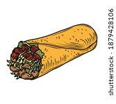 mexican food burrito...   Shutterstock .eps vector #1879428106