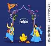 happy lohri celebration... | Shutterstock .eps vector #1879449319