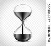 oil in hourglass. black liquid... | Shutterstock .eps vector #1879455070