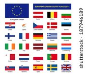 european union country flags... | Shutterstock .eps vector #187946189