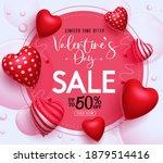 valentine's day sale vector... | Shutterstock .eps vector #1879514416