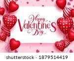 valentine's vector background... | Shutterstock .eps vector #1879514419