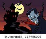 halloween background with... | Shutterstock .eps vector #187956008