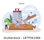 restaurant chef cooking.... | Shutterstock .eps vector #1879561486