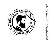 vintage retro barbershop badge...   Shutterstock .eps vector #1879566706
