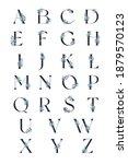 alphabet with light blue...   Shutterstock . vector #1879570123