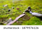 small rocks neatly arranged on ... | Shutterstock . vector #1879576126