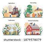 agriculture concept set.... | Shutterstock .eps vector #1879578079