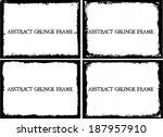 grunge frame set. vector... | Shutterstock .eps vector #187957910
