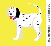 A Dalmatian Dog Stands On A...