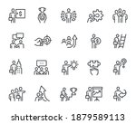 business people icons set.... | Shutterstock .eps vector #1879589113