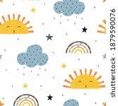 cute childish seamless pattern... | Shutterstock .eps vector #1879590076