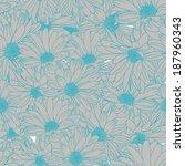 flower pattern seamless  eps 10   Shutterstock .eps vector #187960343