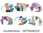 checkup at ophthalmologist  eye ... | Shutterstock .eps vector #1879608223