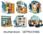 bookworms visiting public... | Shutterstock .eps vector #1879615486