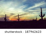 vintage sunset and isolated... | Shutterstock . vector #187962623
