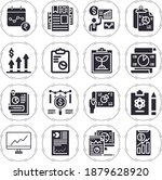 meanwhile 16 filled icon set... | Shutterstock . vector #1879628920