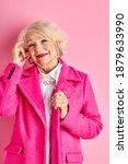 Senior Woman In Stylish Wear ...