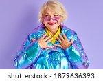 optimistic senior woman is... | Shutterstock . vector #1879636393