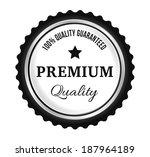 silver premium quality badge   Shutterstock .eps vector #187964189