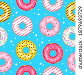 Donuts Seamless Pattern For...