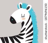 simple hand drawn nursery art... | Shutterstock .eps vector #1879696150