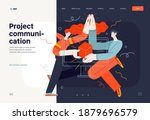 business topics   project... | Shutterstock .eps vector #1879696579